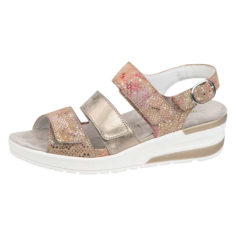 Waldlaufer 702001 H Claudia Metallic multi 3 strap sandal Sizes - 4 to 7 Price - £69
