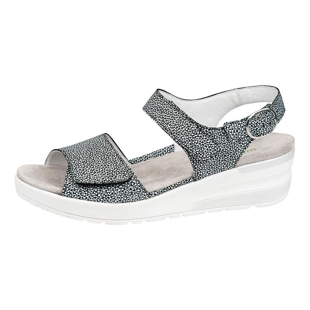Waldlaufer 702005 H Claudia Black multi twin strap sandal Sizes - 5 to 8 Price - £69