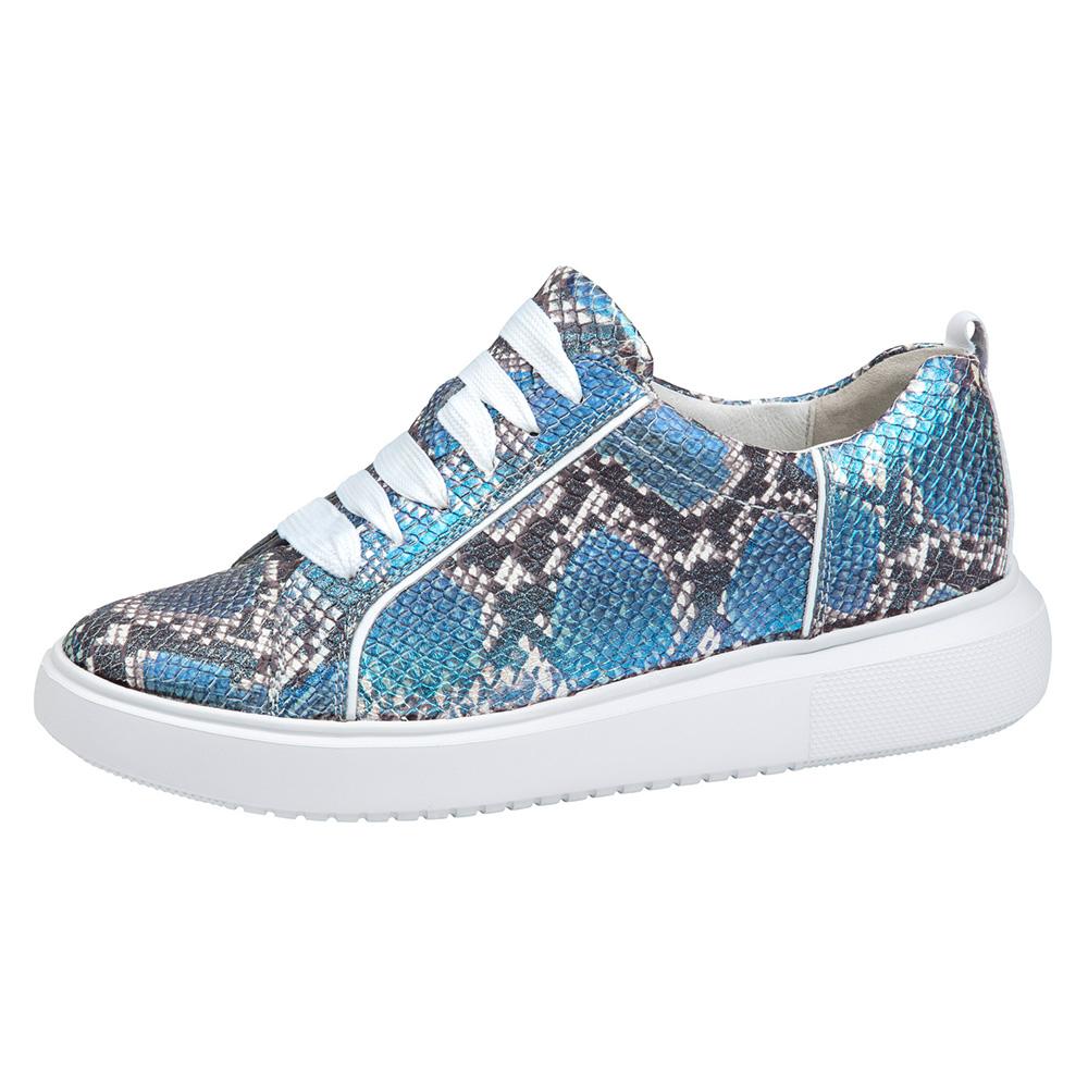 Waldlaufer 763001 H Vivien Blue snake multi lace shoe Sizes - 4 to 7 Price - £75