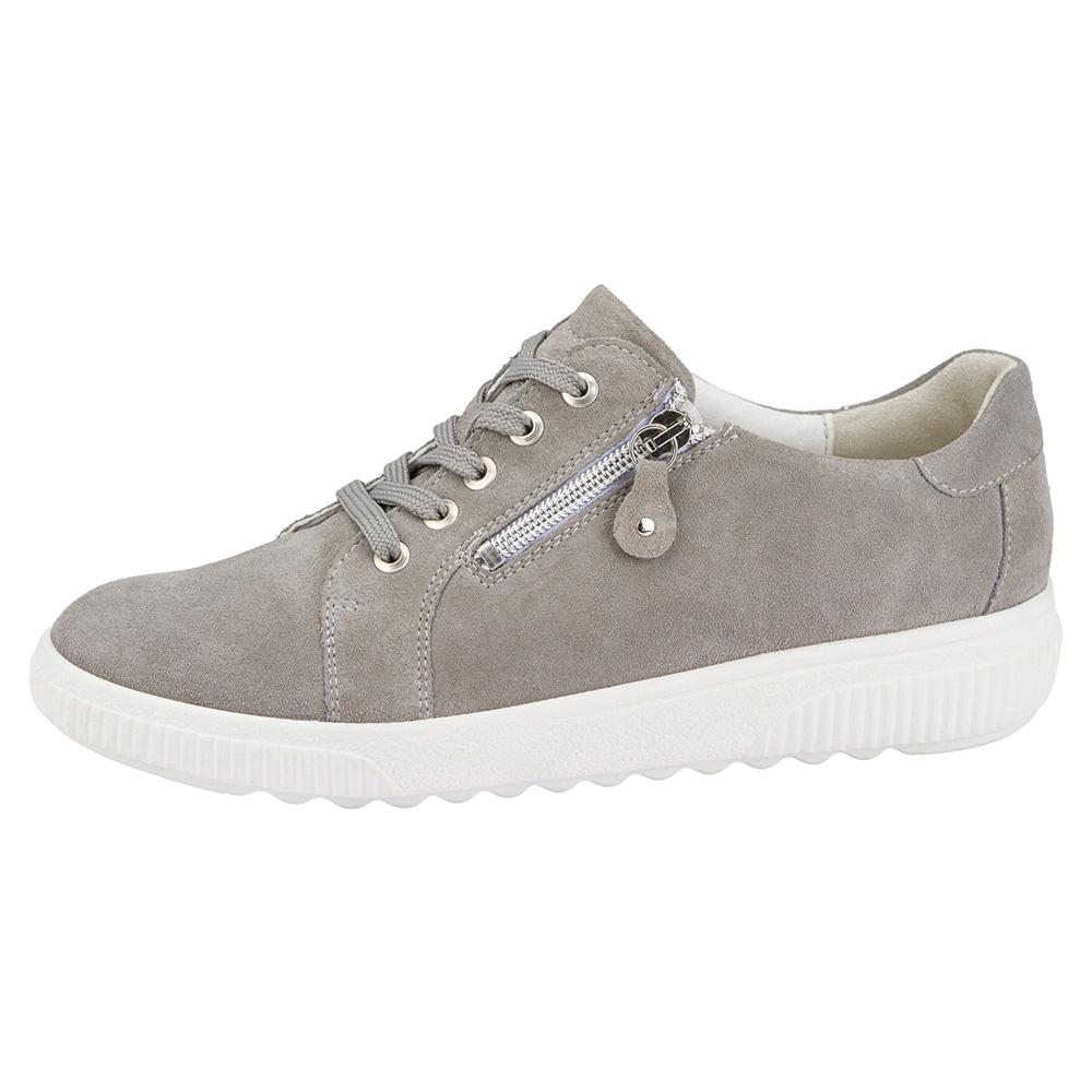 Waldlaufer 910004 H Steffi grey suede zip lace shoe Sizes - 5 to 8 Price - £69
