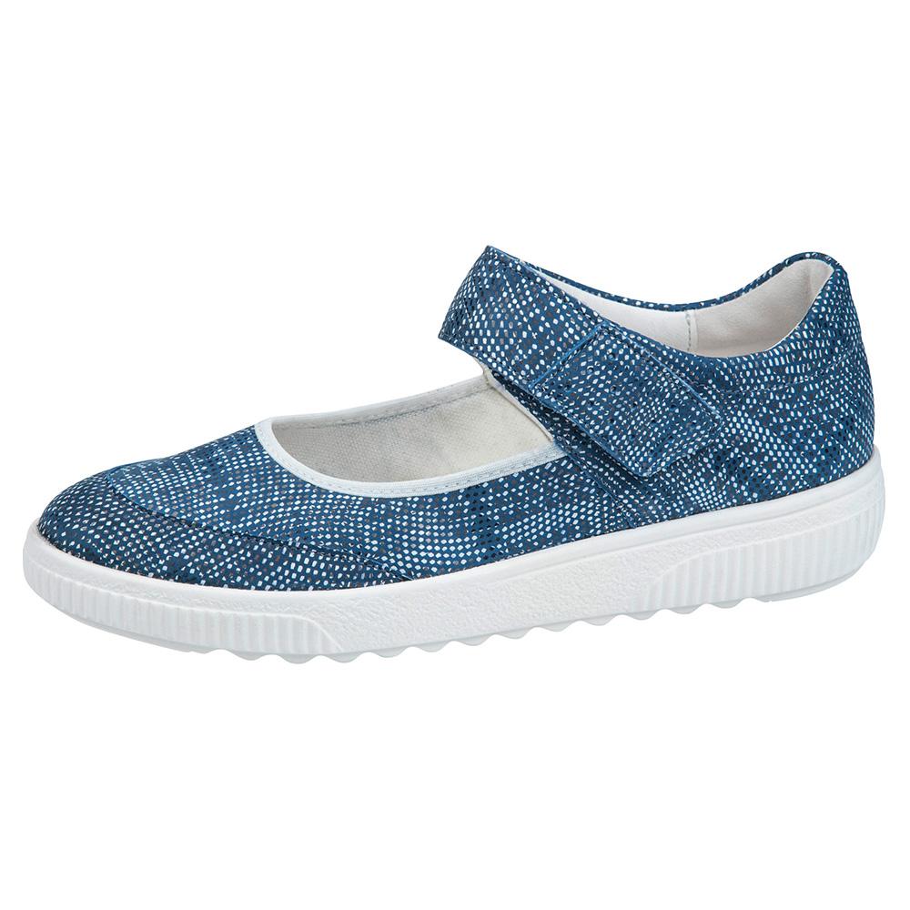 Waldlaufer 910302 H Steffi Blue multi bar shoe Sizes - 5 to 8 Price - £69