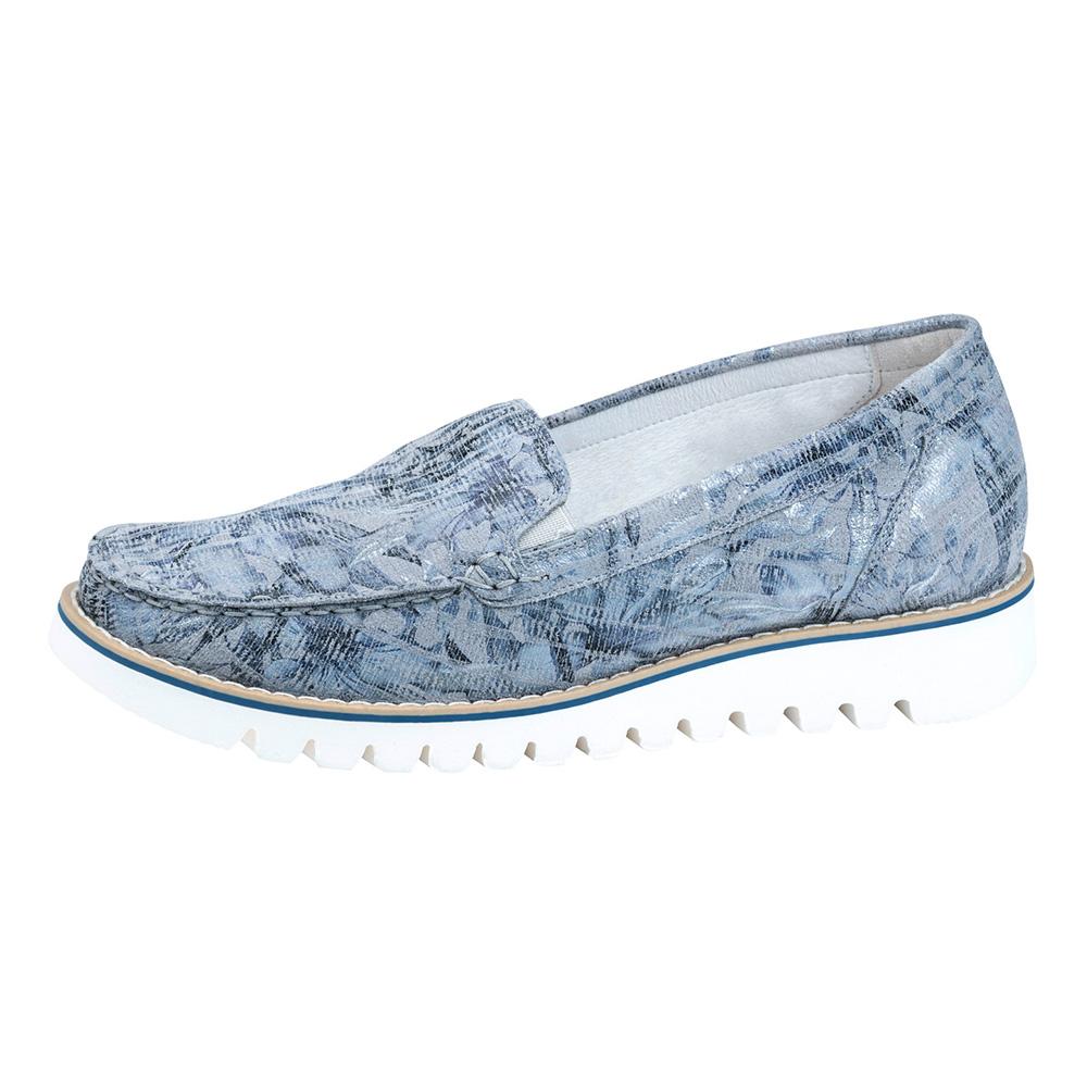 Waldlaufer 926501 Habea Grey sky multi moccasin shoe Sizes - 4 to 7 Price - £72