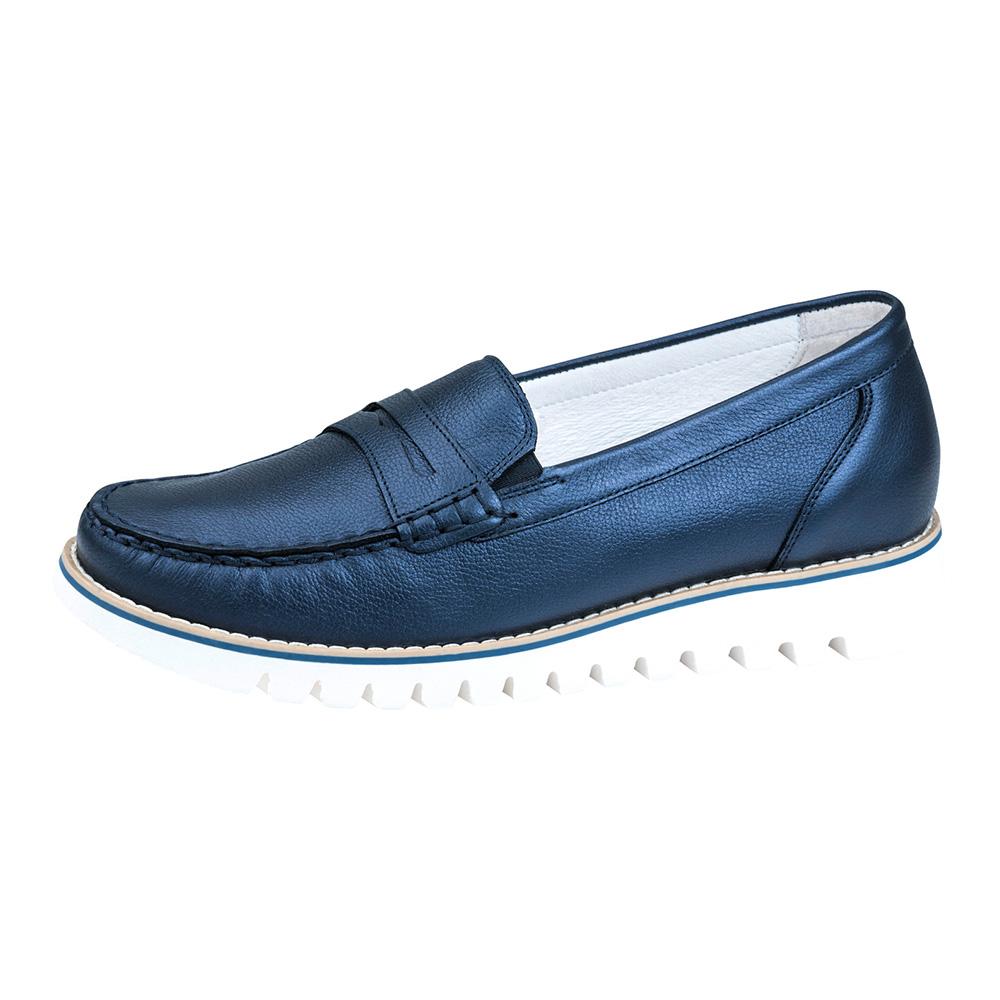 Waldlaufer 926504 navy metallic moccasin shoe Sizes - 5 to 8 Price - £72