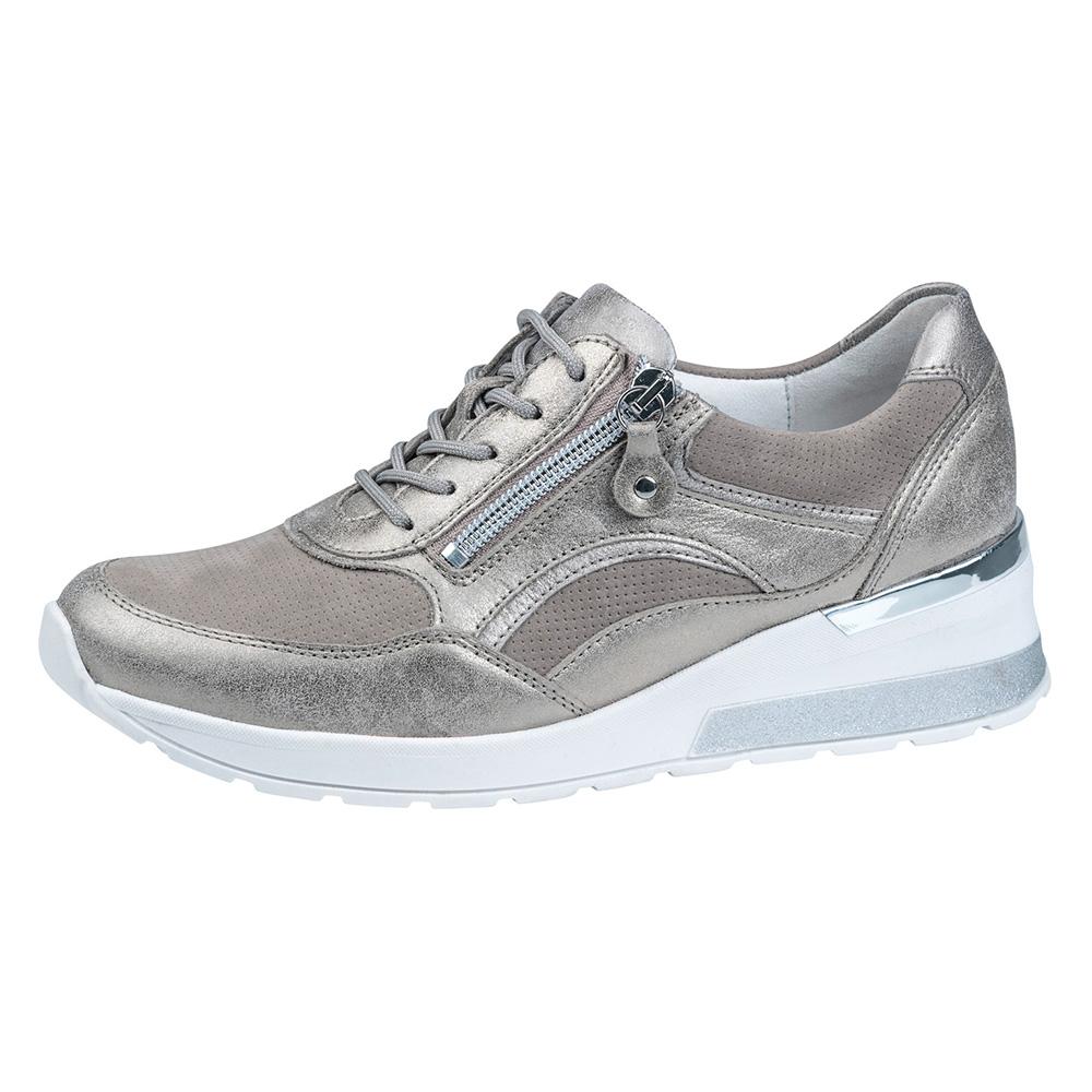Waldlaufer 939011 H Clara Taupe metallic lace zip shoe Sizes - 4 to 7 Price - £75