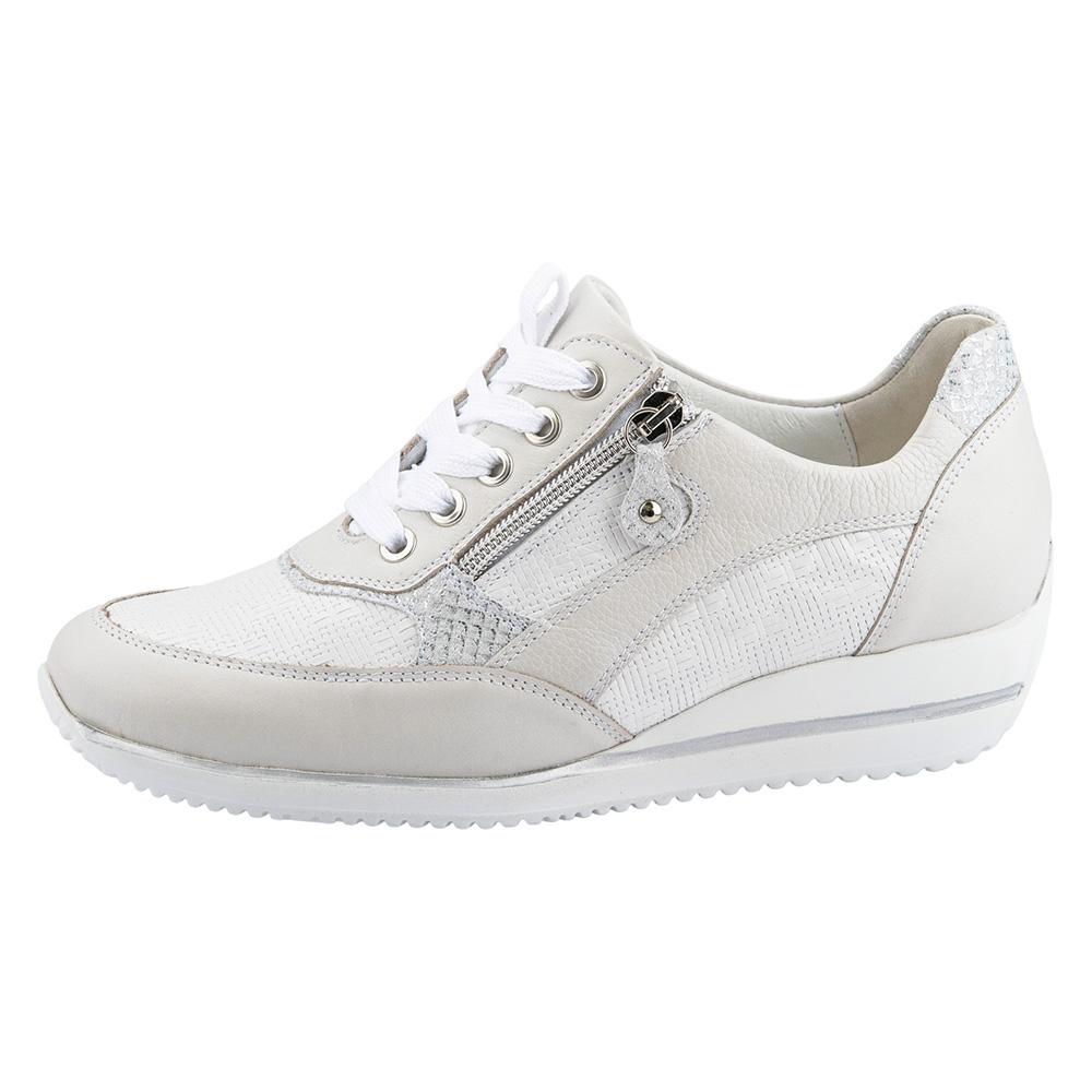 Waldlaufer 980008 Himona White multi zip lace shoe Sizes - 4 to 7 Price - £75