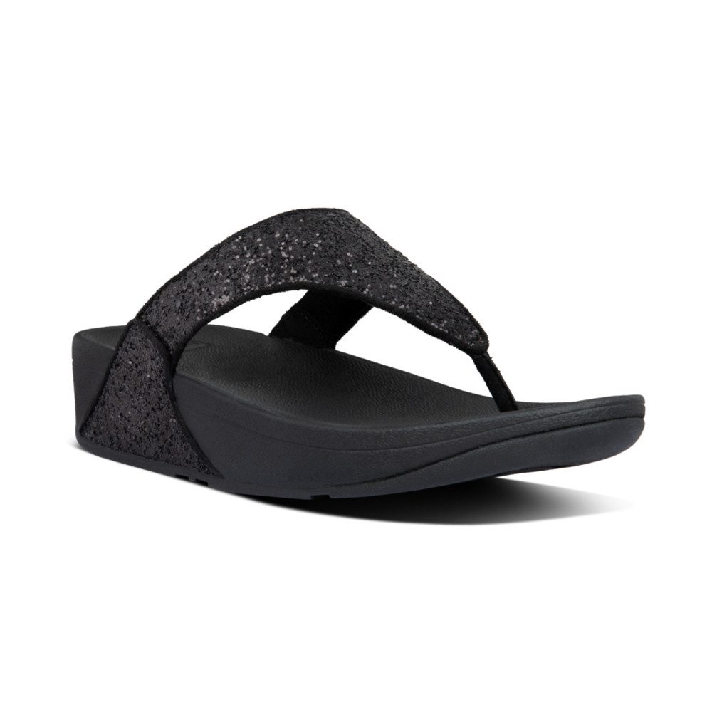 FitFlop Lulu Glitter Black Toe post  Sizes - 4 to 8  Price - £49